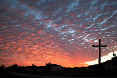 Pop Art - Cross in the Sunrise by Carl Purcell