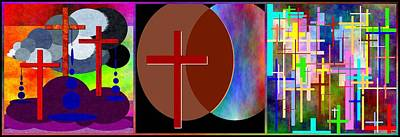 Digital Art - Cross Intersections - Triptych by Glenn McCarthy Art and Photography