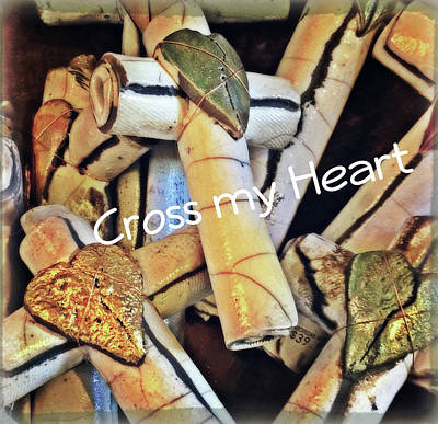 Digital Art - Cross My Heart by Mindy Newman