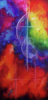 Karen Chatham Art Painting - Cross Of  Promise by Karen Kennedy Chatham