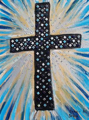 Mosaic Mixed Media - Cross Of The Dew Filled Morning by Seaux-N-Seau Soileau