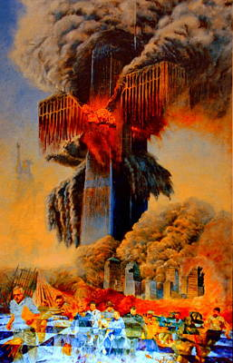 Terrorism Painting - Cross Of The Third Millennium by Henryk Gorecki