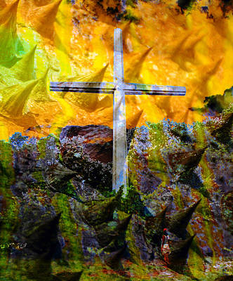 Mixed Media - Cross Of Thorns by David Lee Thompson