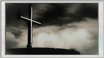 Photograph - Cross On A Hill by John A Rodriguez