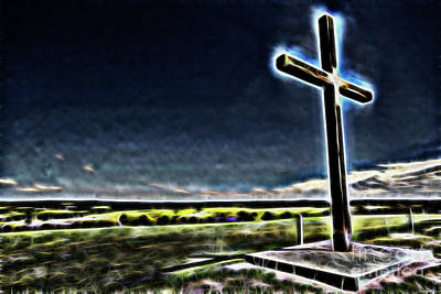 Cross On The Hill Art Print by Douglas Barnard