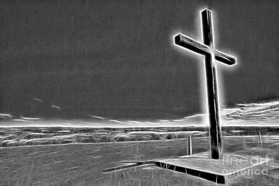 Cross On The Hill V2 Art Print by Douglas Barnard