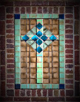 Digital Art - Cross On The Wall by John Haldane