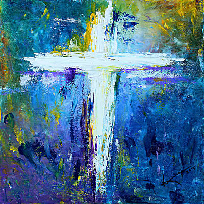 Conceptual Abstraction Painting - Cross - Painting #4 by Kume Bryant