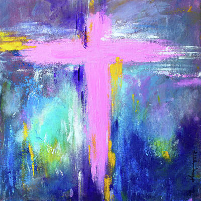 Painting - Cross - Painting #5 by Kume Bryant