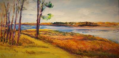 Painting - Cross Ranch State Park by Helen Campbell