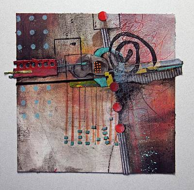 Orange Mixed Media - Cross Roads by Laura Lein-Svencner