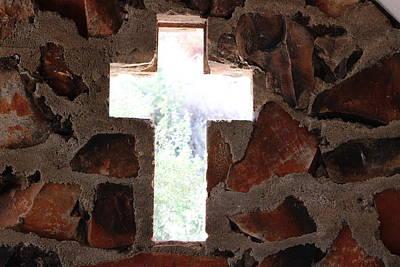 Cross Shaped Window In Chapel  Art Print
