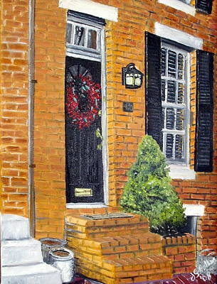 Painting - Cross Street Early March by John Schuller