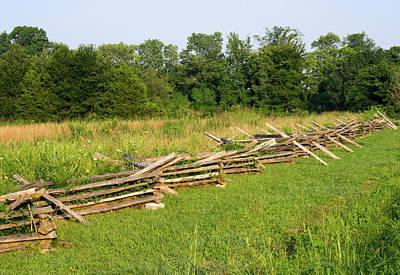 Photograph - Cross Tie Fence Across The Field by Douglas Barnett