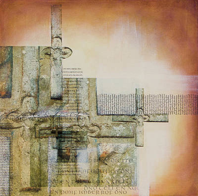 Wall Art - Mixed Media - Cross Weaving by Jane Dill