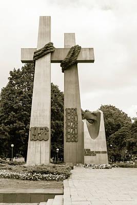 Photograph - Crosses Commemorating The 1956 Protests In Poznan Poland by Jacek Wojnarowski