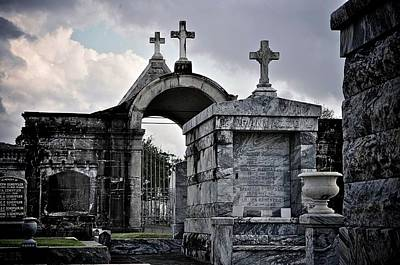 Graveyard Digital Art - Crosses In The Clouds by Alicia Morales