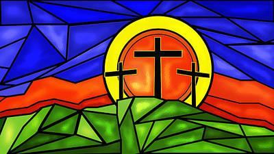 Crosses On A Hill  Art Print by John Bainter