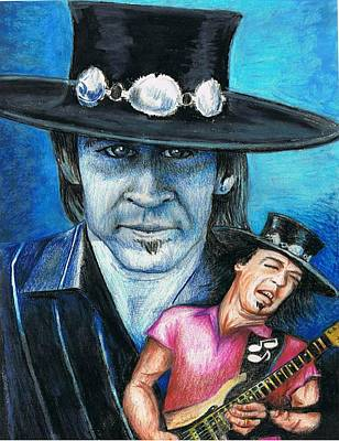Stevie Ray Vaughan Drawing - Crossfire by Tom Ward
