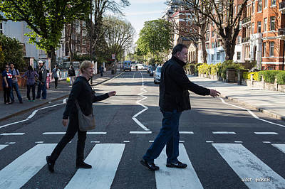 Photograph - Crossing Abbey Road by Walt  Baker