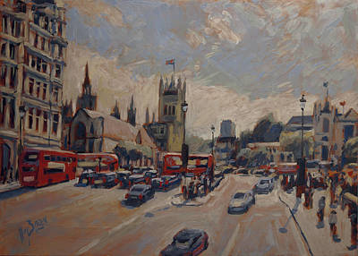 Painting - Crossing At Westminster by Nop Briex