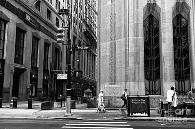New York City Photograph - Crossing Broadway Mono by John Rizzuto