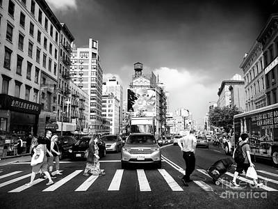 Photograph - Crossing Canal Street by John Rizzuto
