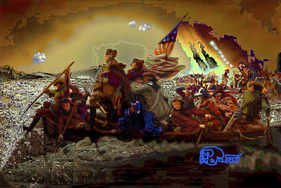 Founding Fathers Mixed Media - Crossing Delaware by Charles Papaccio