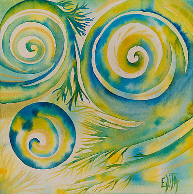 Painting - Crossing by Evita Kristapsone