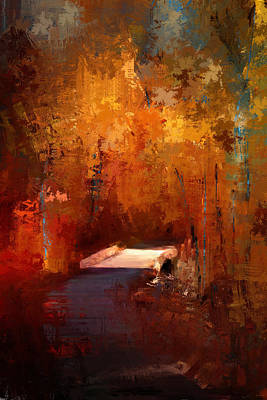 Autumn Scene Painting - Crossing Into Autumn by Jai Johnson