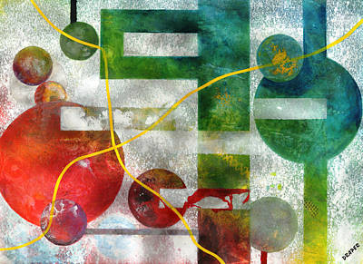 Microcosm Painting - Crossing Jordan by James Douglas Draper