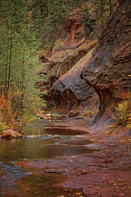 Photograph - Crossing Oak Creek - Vertical by Teresa Wilson