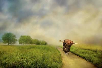 Photograph - Crossing Over Bald Eagle Art By Jai Johnson by Jai Johnson