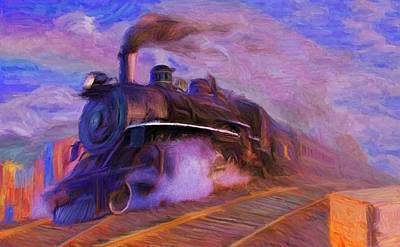Crossing Rails Art Print