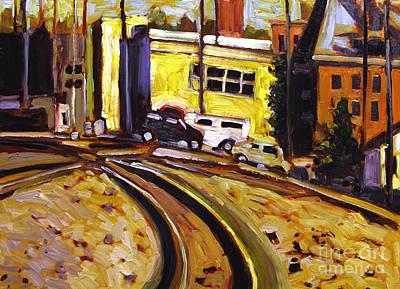Crossing Rails Art Print by Charlie Spear
