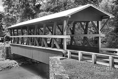Photograph - Crossing Shawnee Creek Black And White by Adam Jewell