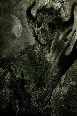 Beast Wall Art - Digital Art - Crossing The Abyss by Cambion Art
