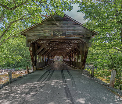Photograph - Crossing The Albany Covered Bridge by Brian MacLean