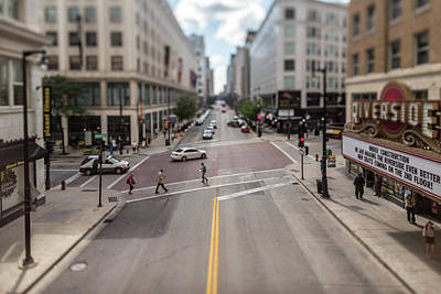 Photograph - Crossing The Avenue In The Itty-bitty-city by Randy Scherkenbach