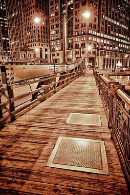 White River Scene Digital Art - Crossing The Bridge by Donald Schwartz