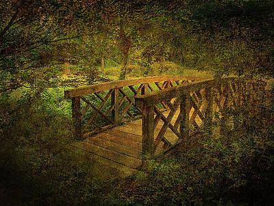 Manipulation Photograph - Crossing The Bridge by Jessica Brawley