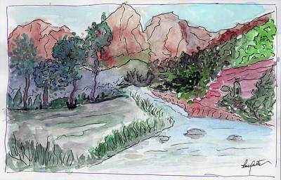 Painting - Crossing The Bridge by R Thomas Berner