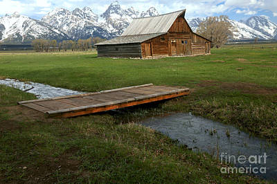 Crossing The Creek Along Mormon Row Art Print by Adam Jewell