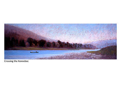 Pastel - Crossing The Kennebec by Betsy Derrick