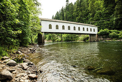 Photograph - Crossing The Mckenzie River by Tom Cochran