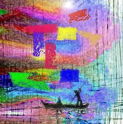 Crossing The River Art Print