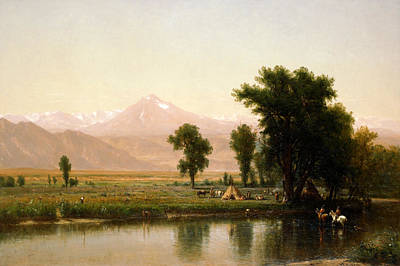 Worthington Painting - Crossing The River Platte by Worthington Whittredge