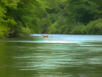 Digital Art - Crossing The River by Rusty R Smith