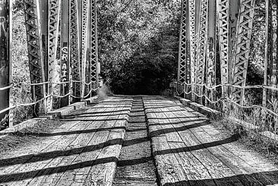 Photograph - Crossing The Sepulga Black And White by JC Findley