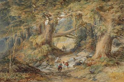 Crossing The Teremakau River Art Print by Nicholas Chevalier